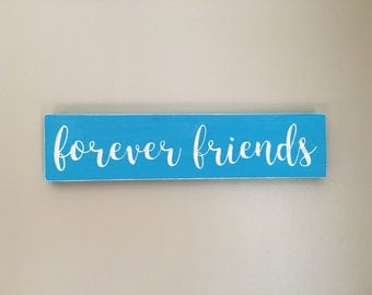 Forever friends - beautifully carved wood decor