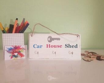 Key hooks - Key holder - Hanging key holder - Organiser - Keys - Home - Handmade - Hooks