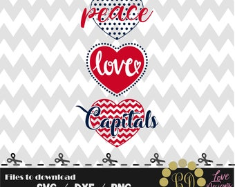 Peace love Washinton Capitals,Hockey mom,dad,svg,png,dxf,cricut,silhouette studio,jersey,shirt,proud,download,birthday,sports,logo,cut,ncaa