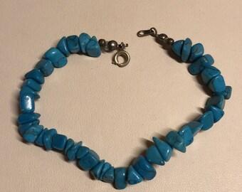 Blue Stone Beaded Bracelet