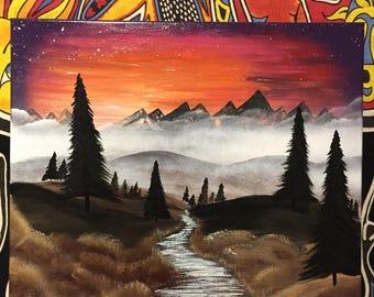Sunset Valley - Spray Paint Art