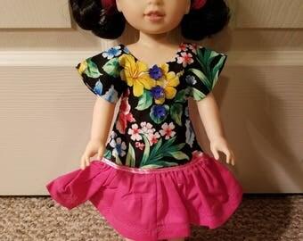 Wellie Wisher Floral Print Dress