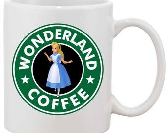 Alice in wonderland inspired mug