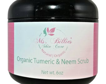 Face Scrub Tumeric and Neem Scrub Organic  Exfoliant Face Scrub
