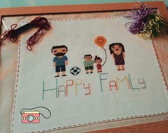 Stitch Family Point Cross