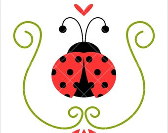 Ladybug, Lady bug cut file, SVG Cutting File, Silhouette, cricut, clipart digital download svg, eps, dxf, png
