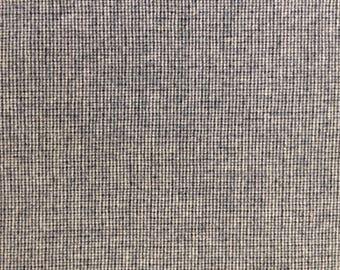 Blue, black and white tweed wool