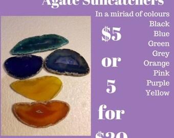 Agate Slice Suncatchers