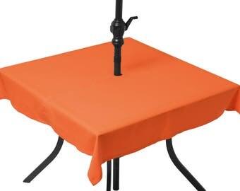Tablecloth orange chat (umbrella)