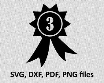 3rd Place medal SVG/ Medal DXF/ Medal Clipart/ Medal Files, printing design, Medal cutting, Medal silhouette, Medal vector, 3rd place medal