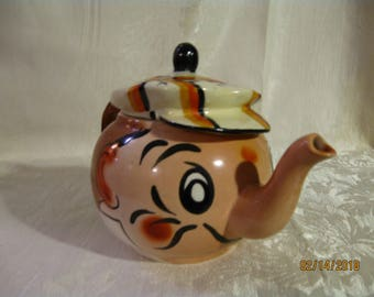 Vintage 1950s Ceramic Andy Capp Teapot made in England by Wade