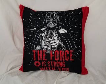 Darth Vader Red Throw- Accent Pillow Cover, Sci Fi gift, red pillow, geek gift, Star Wars pillow, Nerd gift, Decorative pillow, Lightsaber
