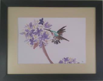 Original watercolor painting - The Bird