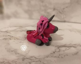 Polymer Clay hand crafted Unicorn