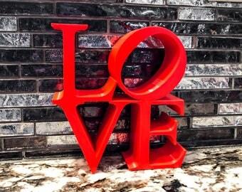Love Sculpture Valentines Day Decor Valentine Decor Valentine Gift Home Decor Valentines Decor Heart Decor Valentine Day Decor Heart Decor