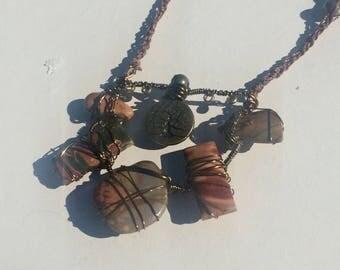 ocean Jasper Fall inspired necklace