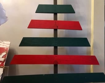 Handpainted reclaimed wood christmas tree