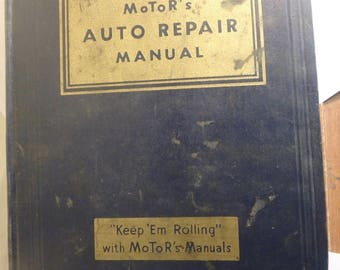 1950- 13th edition Motor's auto repair manual- tight but dirty