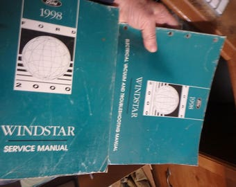1998 Ford Windstar service manual and Evtm manual-original