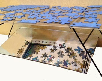 Jigsaw Puzzle Table Etsy