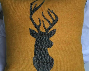 Stag Harris Tweed Cushion