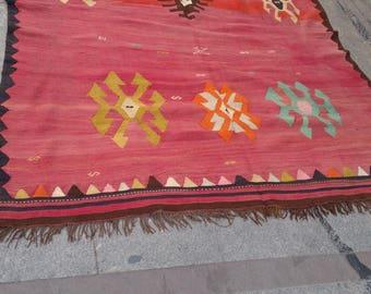 """Handmade kilim rug320x170cm 125""""x67"""",Turkish kilim rug,Anatolian kilim rug,vintage kilim rug,tribal kilim rug, Handmade kilim rug"""