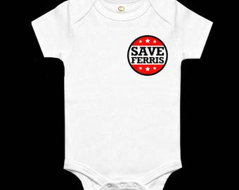 Save Ferris Baby Grow Inspired By Ferris Bueller's Day Off