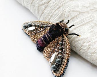 Cicada brooch Swarovski broosh  Insect jewelry, Christmas gift, Beetle pin, Statement jewelry, Beetle brooch, Animal jewelry