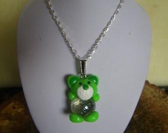 Teddy bear pendant with ball