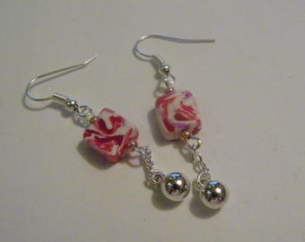 Dangle earrings - pink