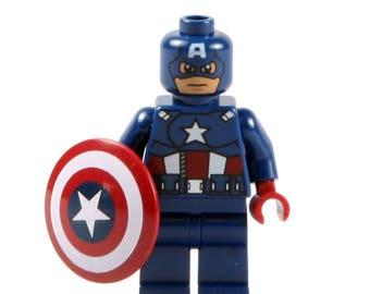 Captain America Marvel Super Hero Mini Figure fits LEGO