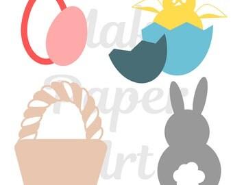 Easter Basket, Easter cut file, Easter