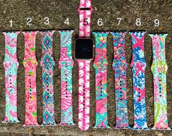 Lily Pulitzer Inspired Iwatch bands 38mm