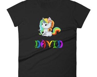 David Unicorn Ladies T-Shirt
