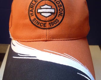 Harley Davidson motorcycle ball cap / velcro strap hat with Since 1903 logo / gently used and clean