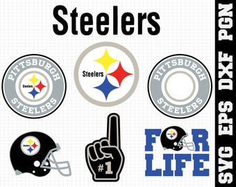 Pittsburgh Steelers Nfl,SVG File-png,eps,nfl svg,SVG File for Cameo,Cricut & other electronic cutters Silhouette Cut Files,Cricut Cut Files