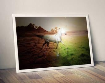 unicorn magic, unicorn ,magic, art, print, unicorn print, fantasy, unicorn poster, fantasy art, magic print, wall art, magic art, animal art