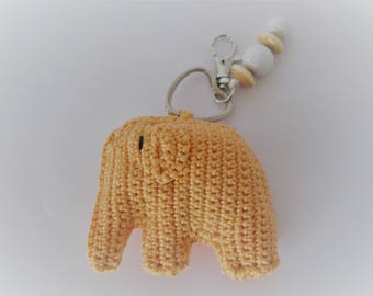 Diaper bag-Keychain in apricot