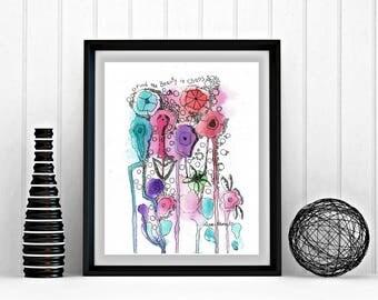 8 x 10, abstract, printable art, chaos, printable artwork, downloadable artwork, abstract art, inspirational saying, beauty, print at home