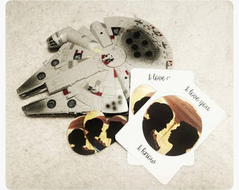 Star Wars - Han and Leia I love you, I know prints and stickers