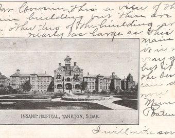 Yankton State Hospital Asylum for the Insane postcard