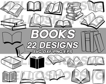 book svg, open book svg, library svg, school svg, monogram, clipart, decal, stencil, vinyl, cut file, silhouette, iron on, eps, dxf, png