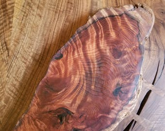 Redwood burl serving platter/cheese board