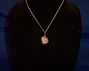 Tumbled Rhodenite in Sterling Silver - Pendant