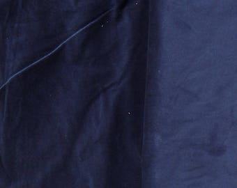 Navy Corduroy Fabric  2 yard piece