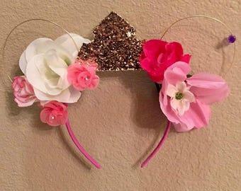 Sleeping Beauty Flower Mickey Ears