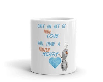 Olaf Frozen Heart Mug
