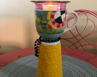 Glow On Candleholder