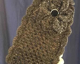 Crochet Cinder Adjustable Filagree Flower Headband/Earwarmer
