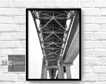 Bridge Print, Wall Art Print, Scandinavian Decor, Home Decor, Photography, Bedroom Decor, Office Print, Living Room Print, Digital, Poster